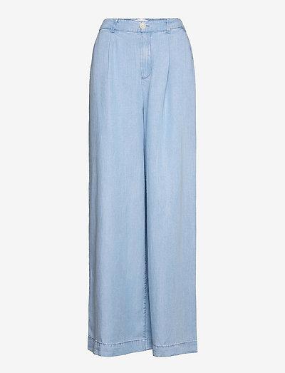 SMART - bukser med brede ben - mid denim