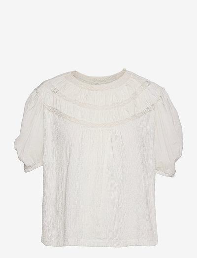 LUCI - kortærmede bluser - white