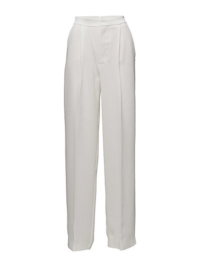 High-waist palazzo trousers - NATURAL WHITE