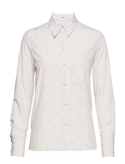Striped modal shirt - NATURAL WHITE