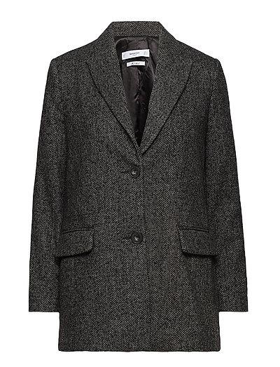 Textured wool blazer - DARK GREY