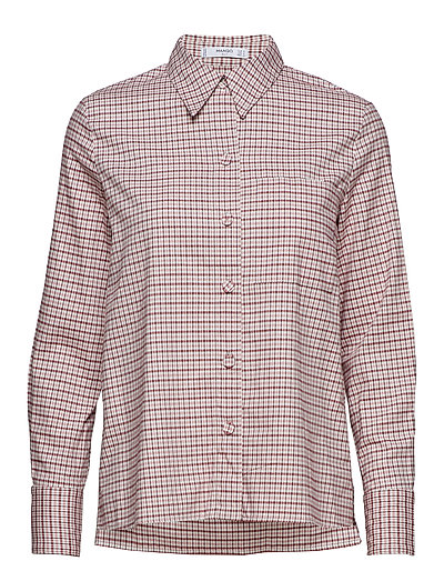 Check cotton shirt - PINK