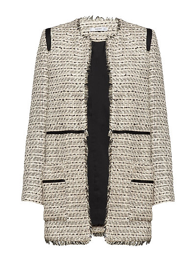 Pocket tweed jacket - LIGHT BEIGE