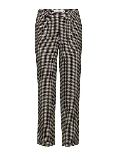 Houndstooth trousers - LIGHT BEIGE