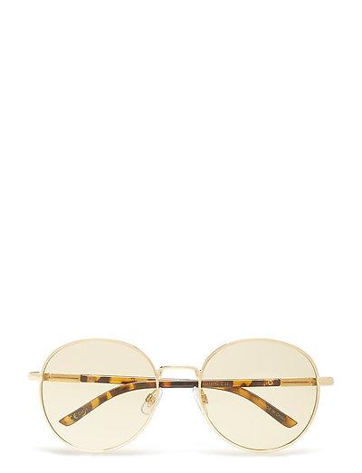 Rounded frame sunglasses - DARK BROWN