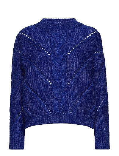 Openwork knit sweater - MEDIUM BLUE