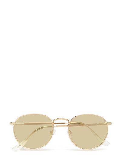 Round mirrored sunglasses - GOLD