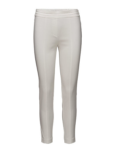 Crop slim-fit trousers - WHITE