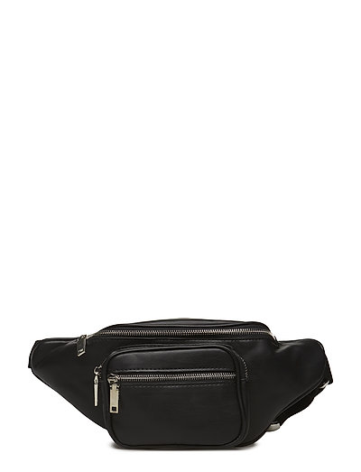 Multiple compartment belt bag - BLACK