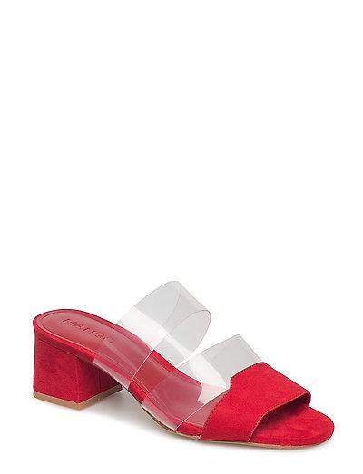 Vinyl straps sandals - RED