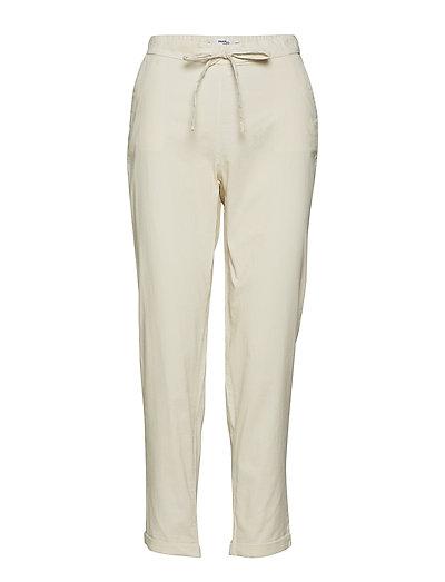 Cotton corduroy trousers - NATURAL WHITE