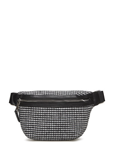 Houndstooth bum bag - BLACK