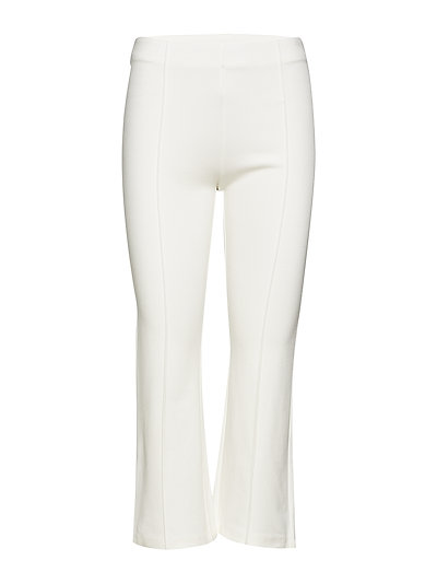Straight textured trousers - NATURAL WHITE