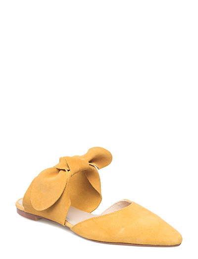 Bow leather shoes - MEDIUM YELLOW