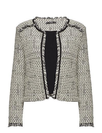 Trim tweed jacket - GREY