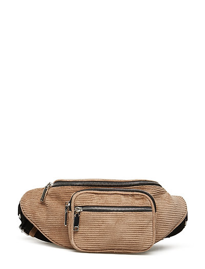 Multiple compartment belt bag - LIGHT BEIGE