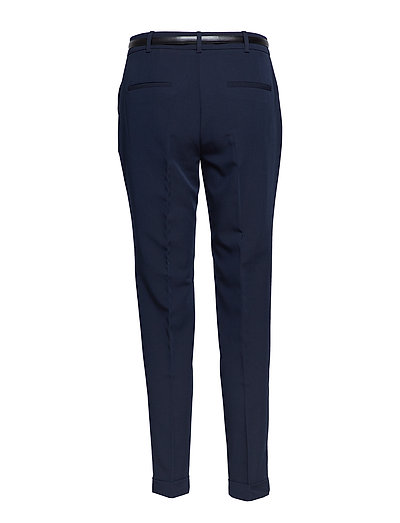 4cb1b37762cf Belt Straight-fit Trousers (Navy) (269 kr) - Mango -