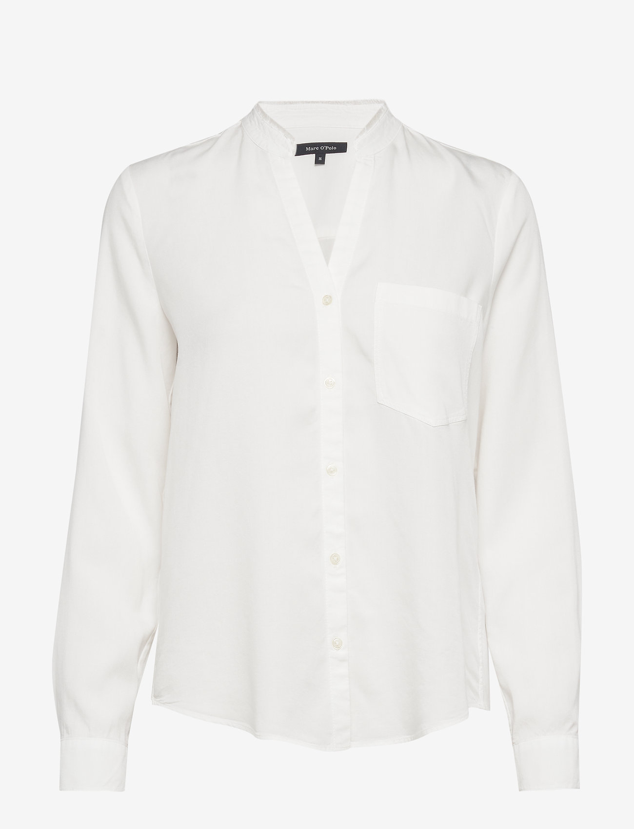 Marc O'Polo - Blouse, round neck with fringes, lo - langærmede skjorter - off white - 0