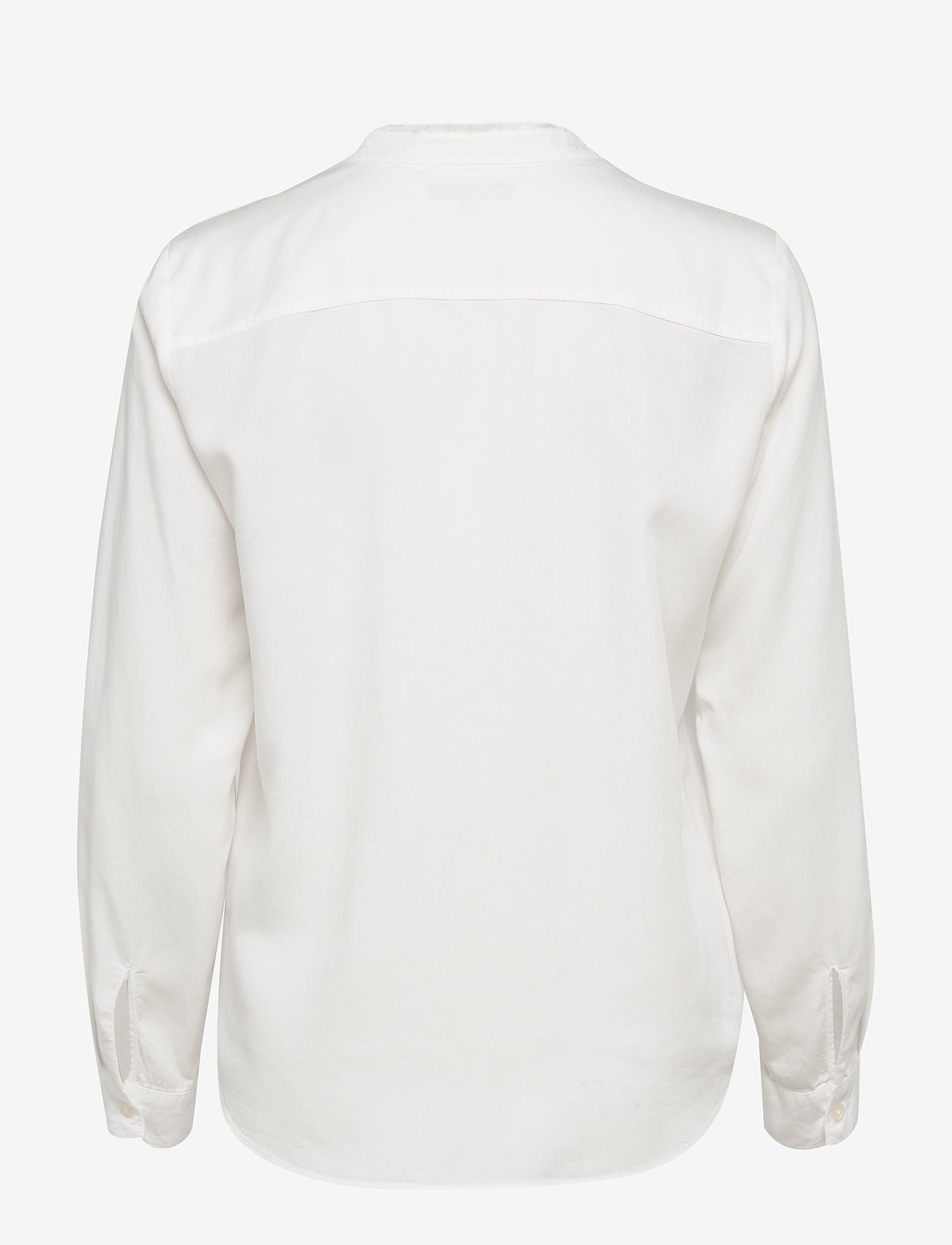 Marc O'Polo - Blouse, round neck with fringes, lo - langærmede skjorter - off white - 1