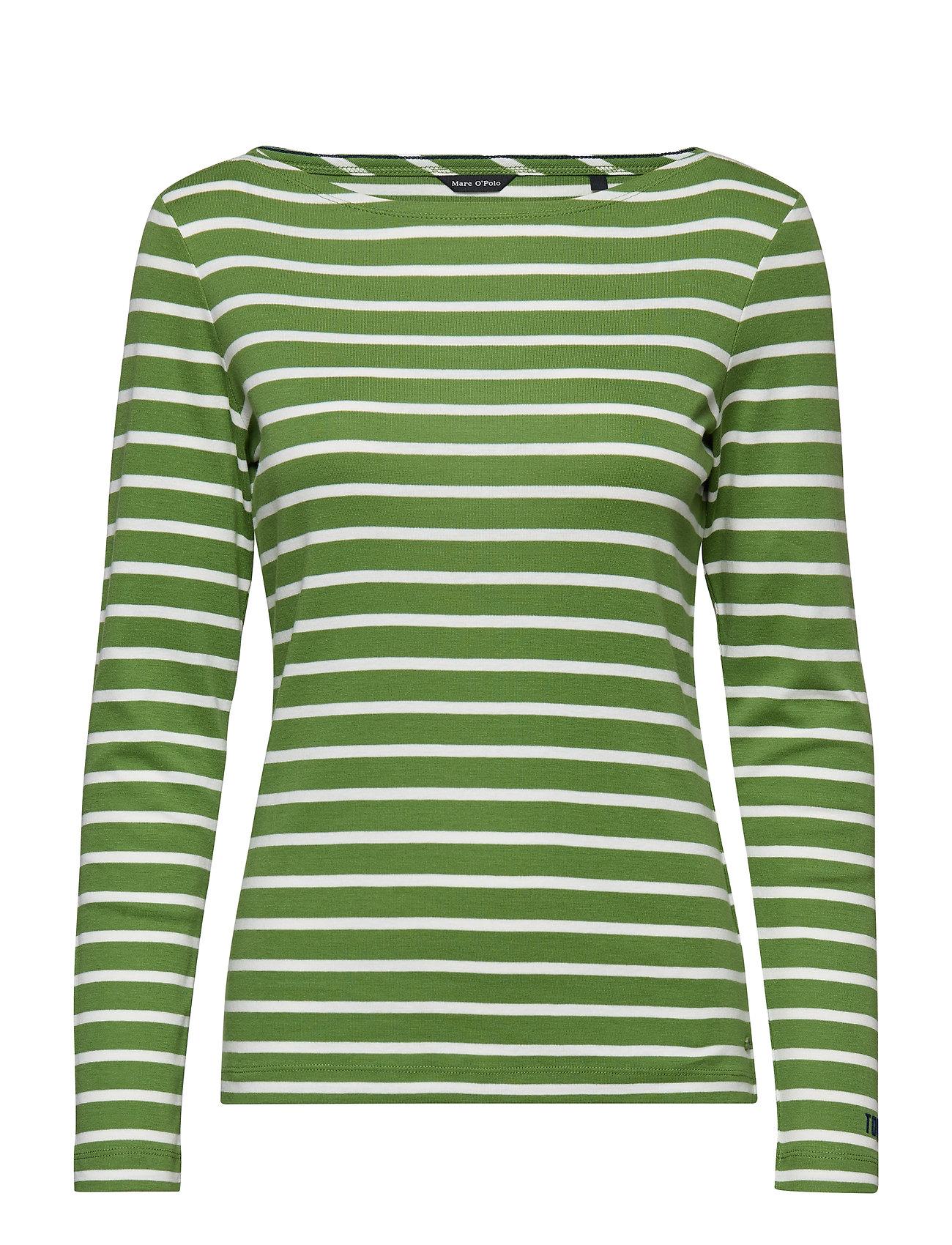 Image of T-Shirt Long Sleeve Langærmet T-shirt Grøn Marc O'Polo (3116343861)