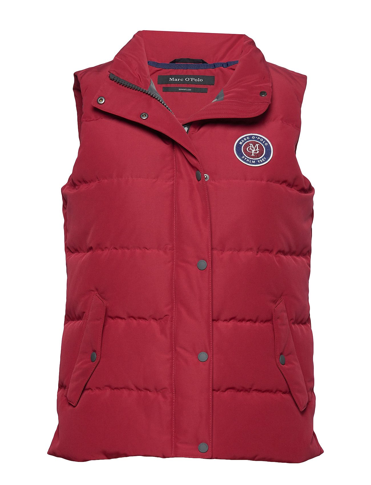 Marc O'Polo Vest, filled with down, stand-up co - LIGHT BEETROOT