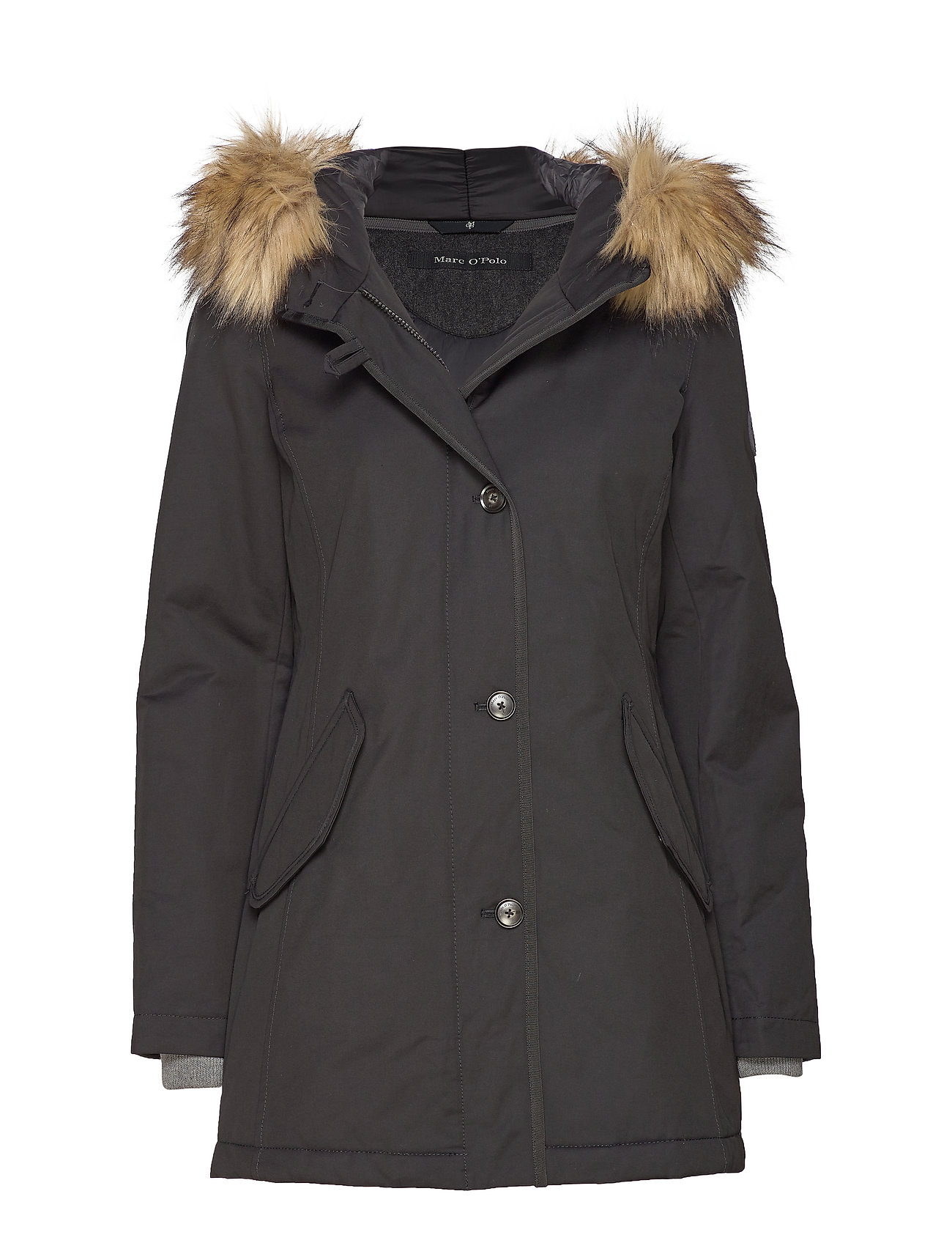 Marc O'Polo Coat, short parka, thermore, shaped - BLACK