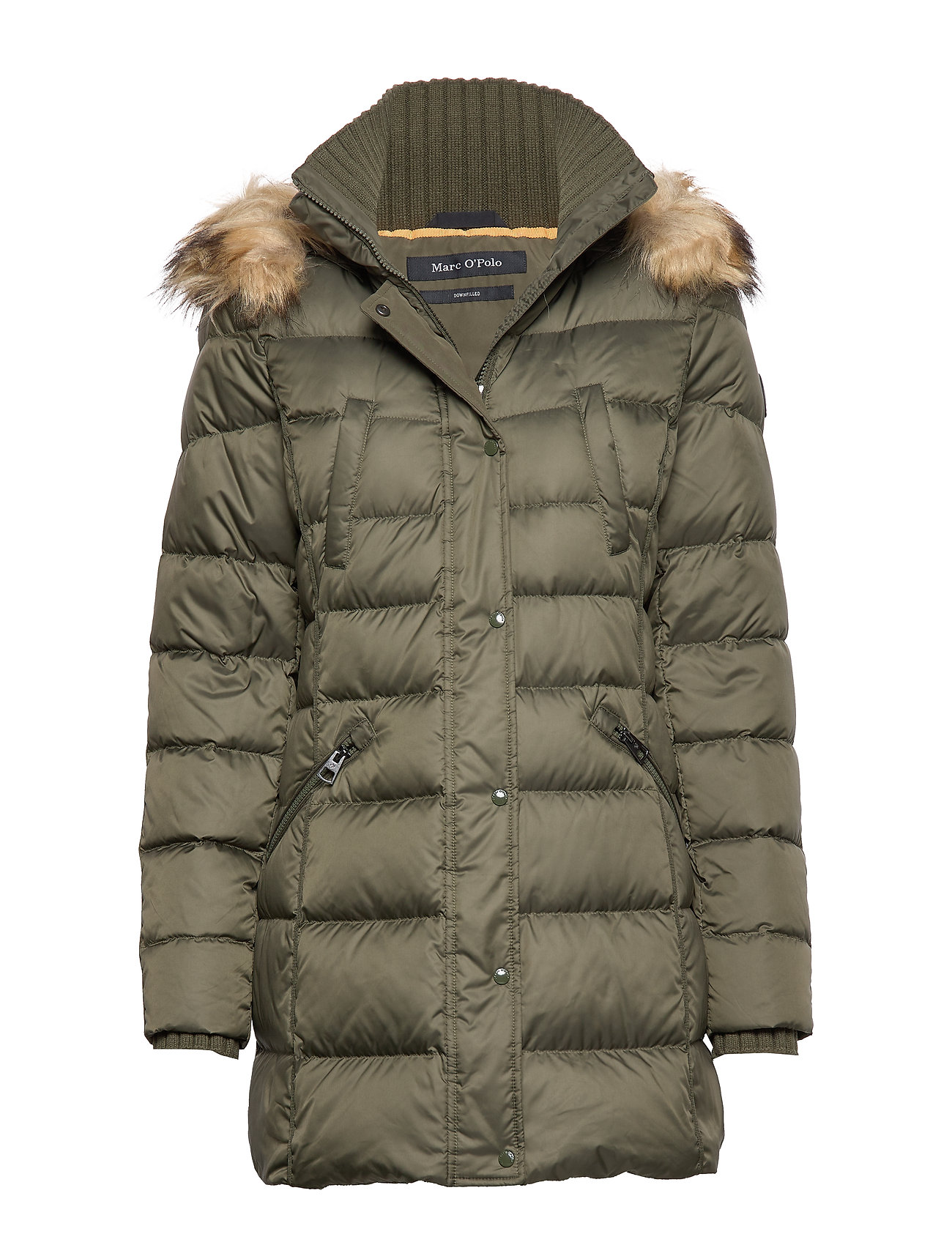 Marc O'Polo Coat, down filled, parka, detachabl - WORKERS OLIVE