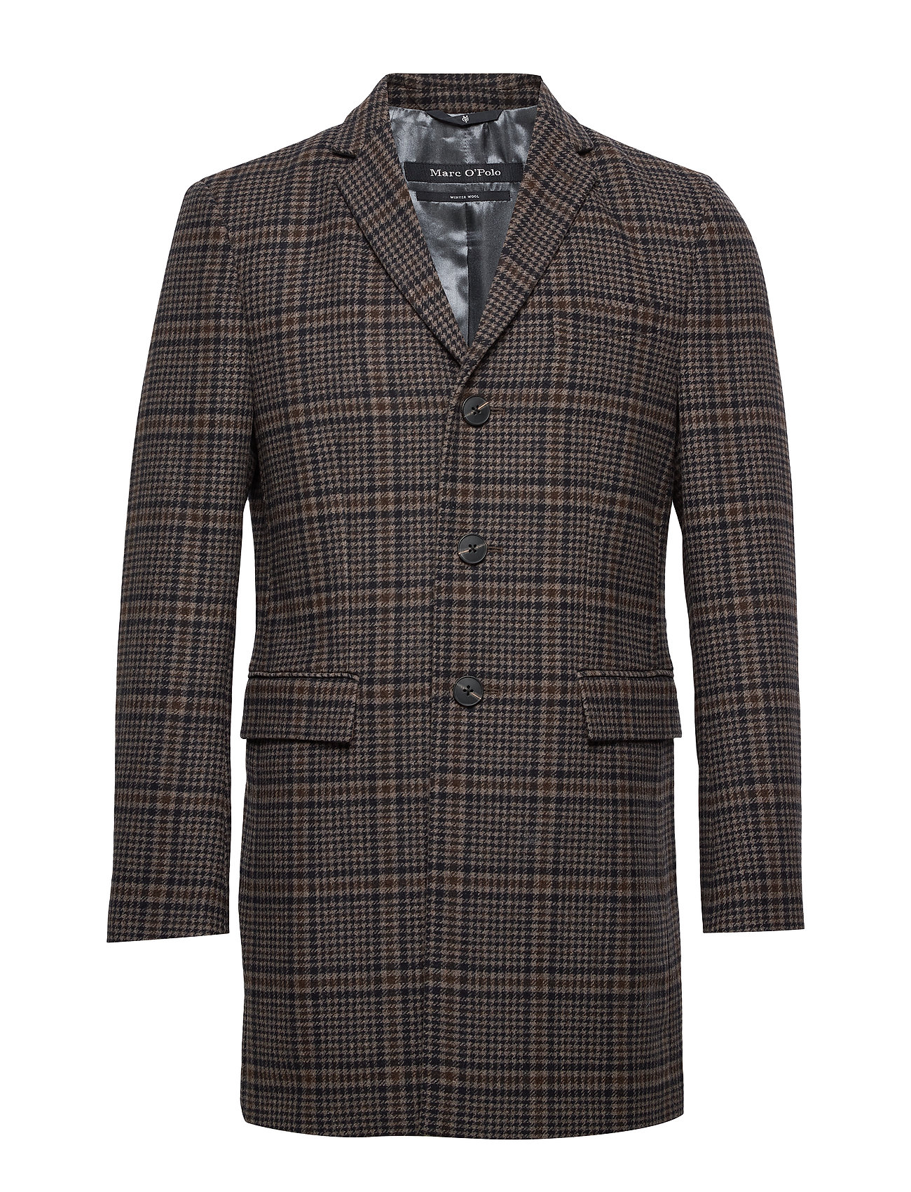 Marc O'Polo Coat, shaped fit, long sleeve, reve - DARK GREY MELANGE