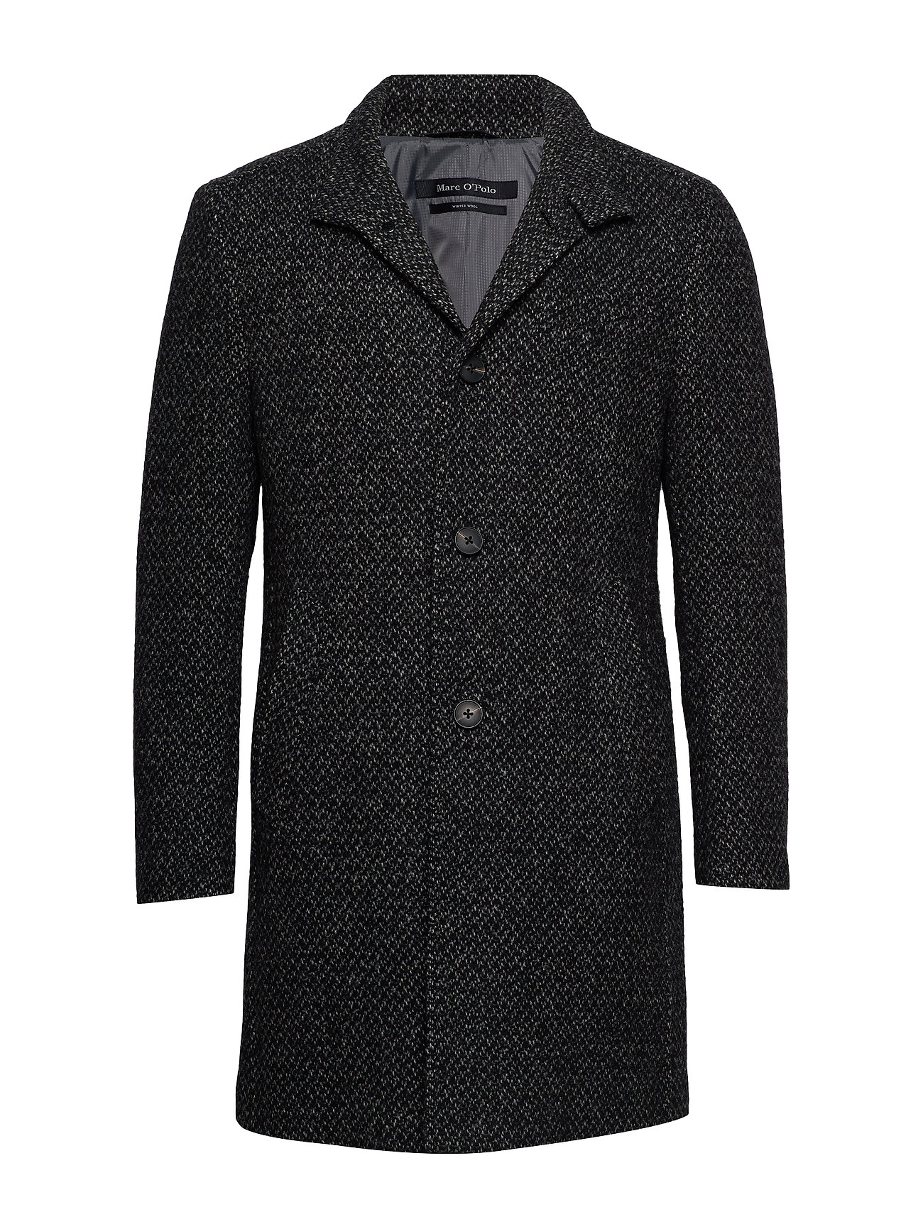 Marc O'Polo Coat, regular fit, long sleeve, sta - DARK GREY MELANGE