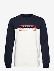 Marc O'Polo - Crew neck, color mix with artwork o - sweatshirts - total eclipse - 0