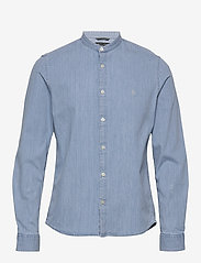 Marc O'Polo - Band collar,long sleeve, denim styl - podstawowe koszulki - multi/airblue - 0