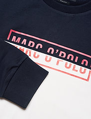 Marc O'Polo - Crew neck, color mix with artwork o - sweatshirts - total eclipse - 2