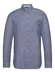 Button down, long sleeve, stitching - MULTI/MAZARINE BLUE