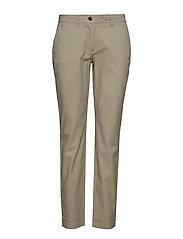 Pants, slim fit chino, topstitching - DRIED ROSEMARY