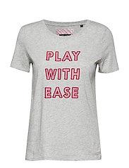 T-shirt, short-sleeve, application - MERCURY MELANGE
