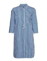 Dress, shirt style, striped dessin - COMBO