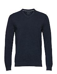 Pullover, structured, v-neck - TOTAL ECLIPSE