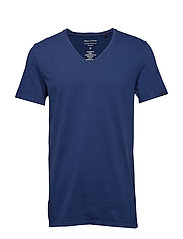 T-shirt, short sleeve, v-neck - ESTATE BLUE