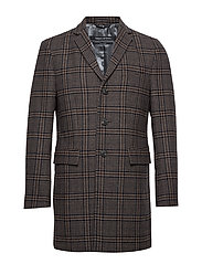 Coat, shaped fit, long sleeve, reve - DARK GREY MELANGE