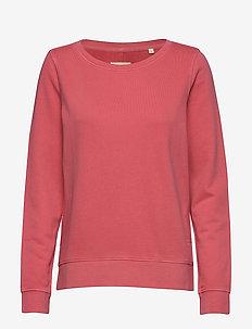 Sweat-shirt, gmt dye, MOP print at - sweatshirts - bright berry