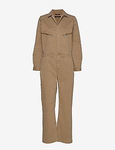 Overall, workwear inspired, shirt c - haalarit - mild tobacco