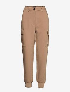 Woven pants - bukser med lige ben - mild tobacco