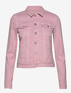 Denim Jacket, button closure, garme - denimjakker - bleached berry