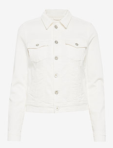 Denim Jacket, button closure, garme - kurtki dżinsowe - soft white
