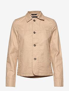 Shirt jacket, slim fit, shirt colla - lette jakker - swedish pine