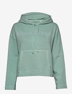 Sweatshirt, long sleeve, hooded, pa - hættetrøjer - misty spearmint