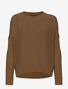 PULLOVER LONG SLEEVE - swetry - deep tobacco