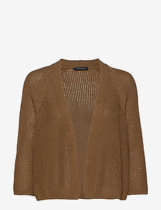 CARDIGANS LONG SLEEVE - cardigans - deep tobacco