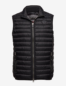 SDND Vest, regular fit, sleeveless, - BLACK