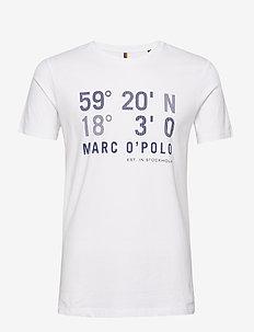 T-shirt, short sleeve, crew neck, a - WHITE